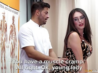 All lubed charming nympho Estrellita turns rub-down secure cock riding workout