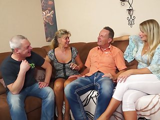Two swinger couples enjoy having dirty and crazy foursome sex