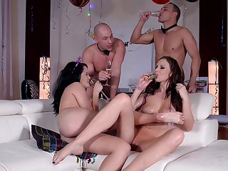 Wild party leads be transferred to horny wives to doolally sex