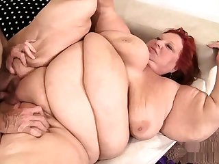 Obese bbw granny pussy fucked and cant succeed in enough