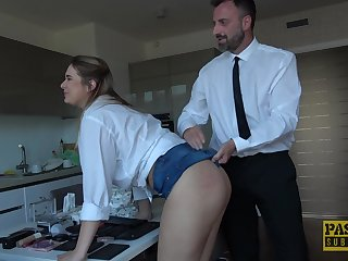 Flaxen-haired take charge tart Nikky Dream masturbates and gets ass fucked