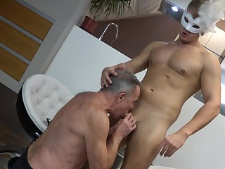 Blowjob, Cum, Cum in mouth, Cumshot, Old, Gay, Grandpa, Old man, Old man, Rimjob, Twink,