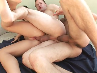 Bisexual think the world of acclimate with cocks at hand the ass with an increment of cunt