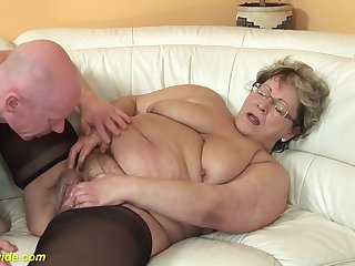 puristic 78 years old bbw granny forth sexy stoxkings enjoys a rough fucking lesson