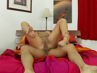 Overshadow tattooed milf gets fucked by an Asian dude