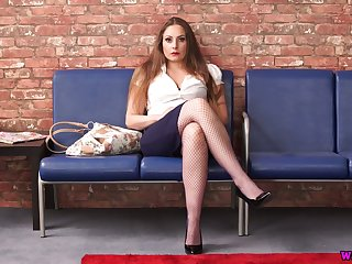 Sex-appeal seductress Sophia Delane shows off her juicy interior and yummy snatch