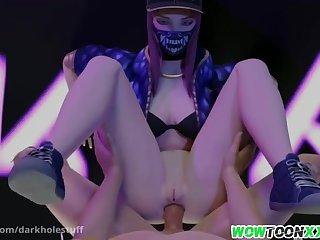 Sexy brunette asian babe called Mei unfamiliar Overwatch entertainment jumbo perfect footjob massage