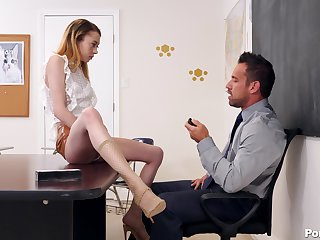 handsome professor teachesAllie Addison all here sex and pleasure