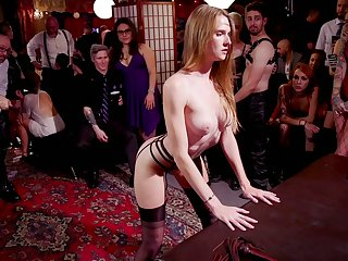 Crinkly whore Dee Williams enjoys nonstop hardcore orgy party in the bagnio