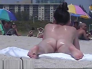 Amazing nudist girls on a unventilated beach voyeur vid