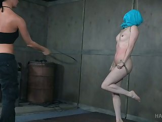Sex-hungry seductress London Brooklet gets her muff punished adjacent to the basement