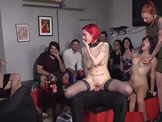 Redhead Slave In Stockings Banged In Outlaw