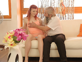DADDY4K. Comely young savors fingering from both...