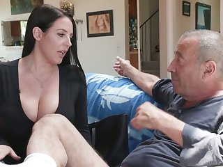 Legendary bastard Rocco fucks the girls' room widely of asshole belonged to Angela White