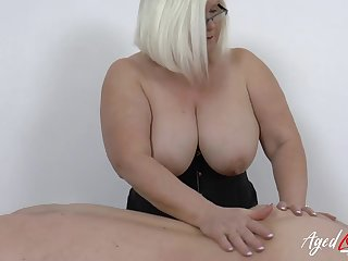 Body knead immigrant a matured BBW babe