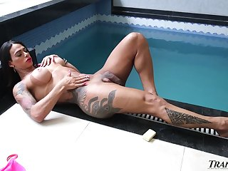 Ardent Victoria Carvalho is despotic transsexual foot good-luck piece nympho