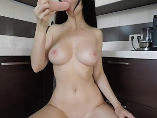 Amateur toy double penetration with a rump plug at first time - Mini Diva