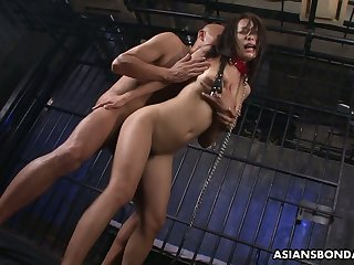 Two kinky Asians fuck sextractive Japanese prisoner Yayoi Yanagida