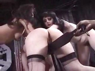 Interracial Lesbian Spanking Hot BDSM Porn Video
