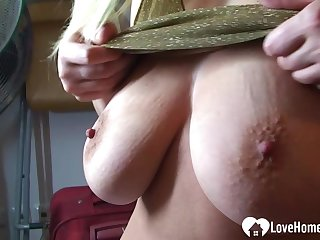 Amazing chick loves to fool around on camera