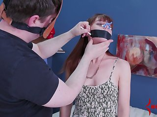 Red haired babe gets her anus toyed and fucked wits duo kinky coxcomb about mask