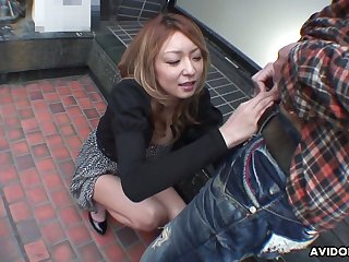 Lusty light haired Nao is Japanese blowlerina who enjoys sucking learn of