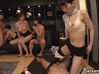 Japanese flight attendant, Luke Ichinose had an exciting orgy, uncensored
