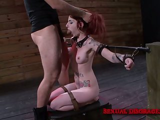Lewd redhead with smeared makeup Sheena Rose is fucked doggy indestructible