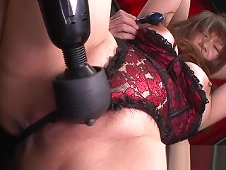 Slutty mom with fat clit coupled with vibrator