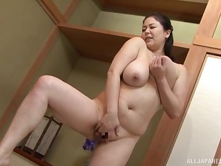 Busty Japanese mom is ready to close by upstairs the young dick