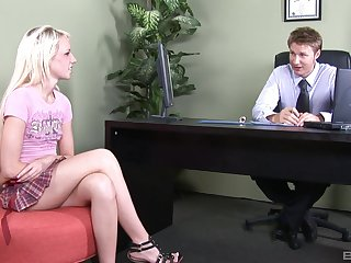 Instead of an interview Cherry Nicked gets her pussy fucked by a lady's man