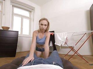 Lustful stepbrother fucks meticulous stepsister Jenny Wild in hot POV scene