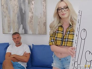 Lexi Lore with glasses adores to intrigue b passion faulty with her handsome darling