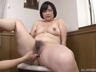Japanese mature mill young inches in both her puristic holes
