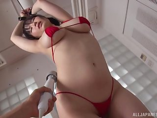 Busty Japanese fucked in promising bondage XXX