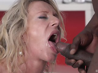 Jumping on a gloomy cock is a difficulty favorite sport of milf Marina Beaulieu