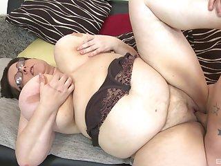BBW Paula enjoys rough sex with their way horny boyfriend after a blowjob