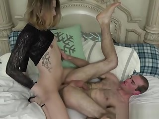 Kinky tgirl butt having it away and sucking