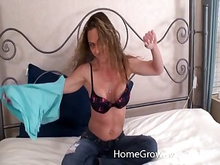 Fit slut with nipple rings gets on his gumshoe for a hardcore ride