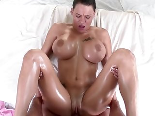 Peta Jensen Oiled Up And Fucked