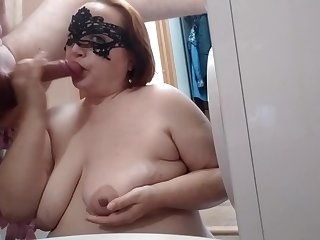 Old high heels Redhead mature MOM screaming ep. 3 Bathroom, sperm taking