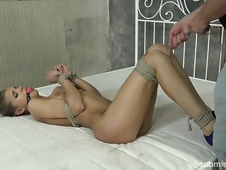 Whorish girlfriend Sarah Kay is punished by hot under the collar fixture