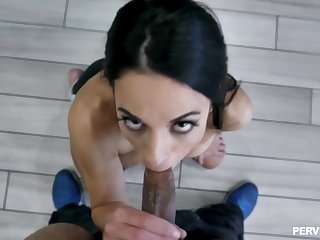 Hot wife deals the BBC in the air exclusive home scenes