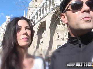 Barcelona screwing - dirty bitch has sex fro box stock market - Spanish brunette alexa tomas