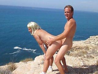 Amateur, Blonde, Beach,