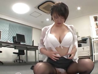 Endless pleasure be fitting of a clothed Japanese while on tap the office