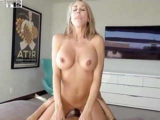 Plowing a big-titted platinum-blonde step- mom senses finer than milking off space fully seeing VR porno