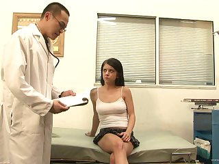 Hot slut sucking cock after getting examined in the doctor's place