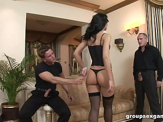 Classy wife Susie Diamond loves to be fucked by a handful of hard cocks