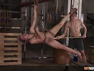 Stripped twinks fuck in imperturbable BDSM action on cam